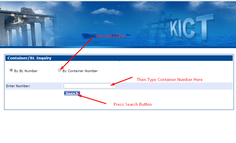 KICT-Container-Tracking-online
