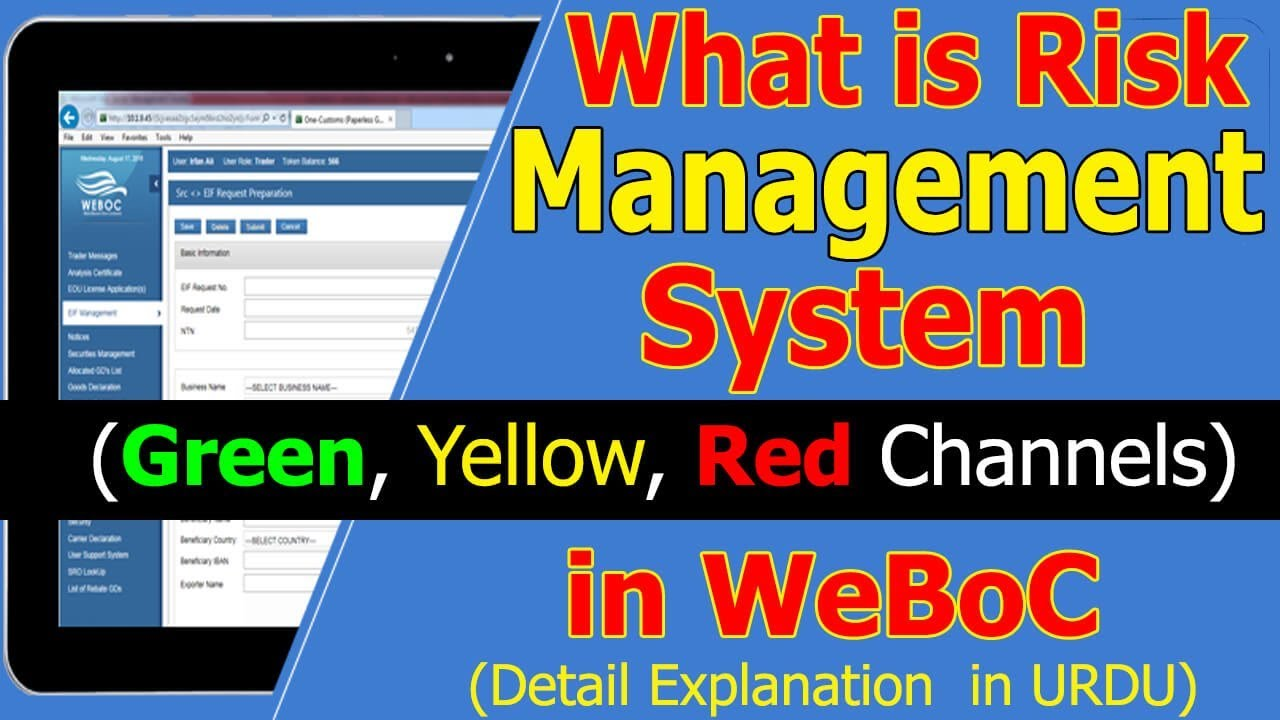 What is Green, Yellow and Red Channels in WeBoc System – WeBoc Risk Management System(RMS)