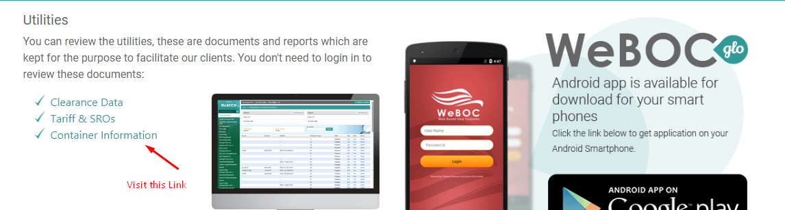 Check-Container-Status-in-WeBOC-Glo