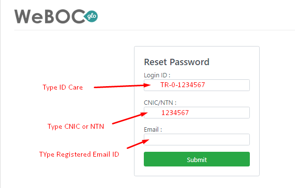 Weboc-glo-password-recover
