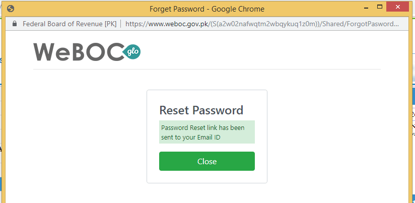 Weboc-glo-password-reset-link-has-been-send-to-your-email-id