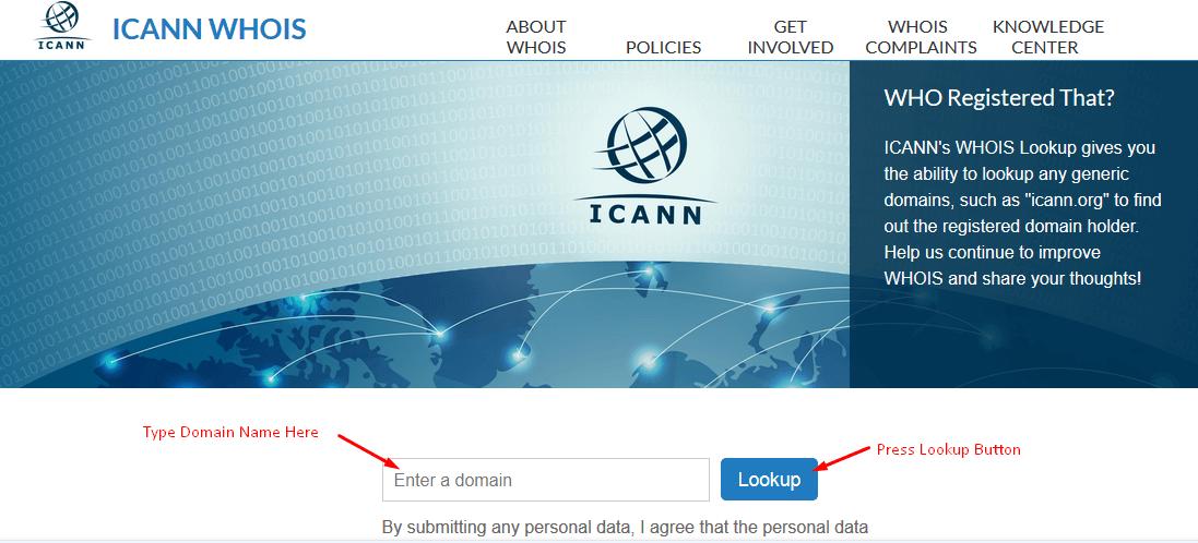 Get Company Domain Name Registration Details