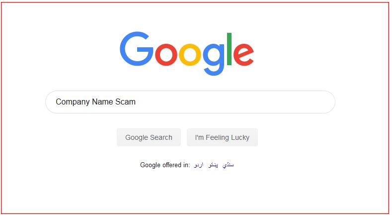 Use-Google-Keywords-Company-Name-Scam