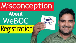 Misconception About WeBOC Registration
