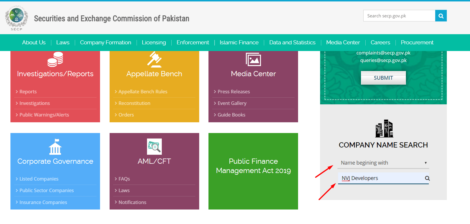 Check-Company-Name-in-SECP-Name-begining-with