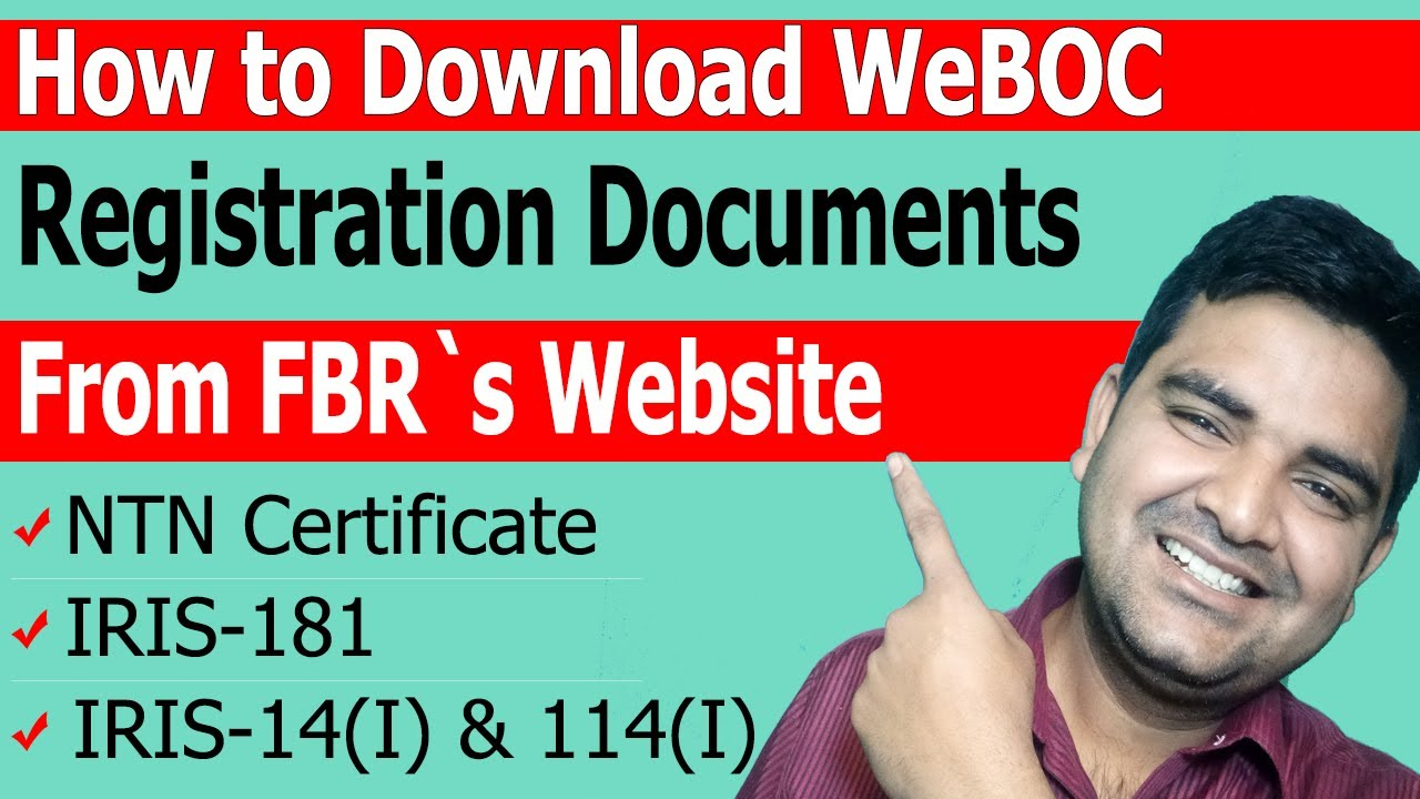 How to Download Form 181 FBR, IRIS-181, IRIS-14(I), and NTN Certificate for WeBOC Registration
